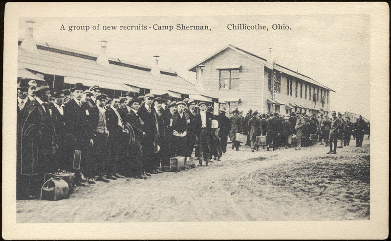 The Great War Postcards A Group Of New Recruits Camp Sherman Chillicothe Ohio